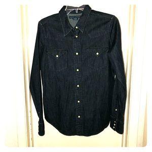 Ralph Lauren Size 12 Western Pearl Snap Shirt